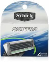 Schick Quattro For Men Refill Razor Blade Cartridges, 4 Count
