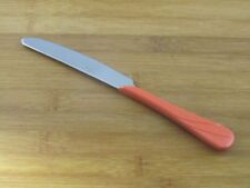 "Fiesta Swirl Persimmon Dinner Knife 9"" VGC Homer Laughlin Stainless Flatware"