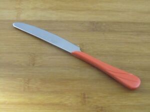 "Fiesta Swirl Persimmon Dinner Knife 9"" VGC Homer Laughlin Stainless Flatware"
