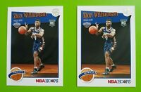 Zion Williamson 2 Card Lot of 2019-20 Panini Hoops Rookie Tribute RC Card #296