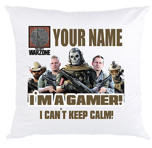 Call of Duty Warzone Cushion Cover Personalised Gift Your Name PC PS4 XBOX