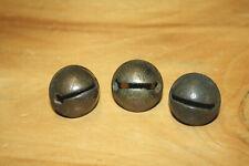 "Lot of (3) size 2 , solid brass Petal sleigh bells. 1 1/4"" 31mm diam. (120)"