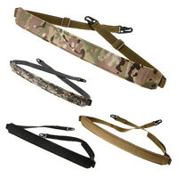 Tactical Two Point Quick Detach Rifle Sling Strap With 2 HK Snap Hook Hunting