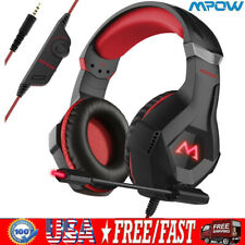 Mpow PS4 Gaming Headset For Xbox One Headphone PC Earphone Stereo Bass with Mic