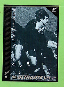 """1995 NEW ZEALAND  ALL BLACKS RUGBY UNION CARD  #36  DAVE  """"TRAPPER""""  LOVERIDGE"""