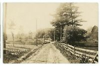 RPPC Dirt Street SHAVERTOWN PA Luzerne County Pennsylvania Real Photo Postcard