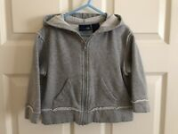 Long Sleeve Zip Up Hooded SweatshirtHarajuku MiniSize 4T