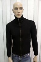 BELSTAFF Uomo Taglia S Maglione Nero Lana Sweater Pullover Maglietta Maglia Man