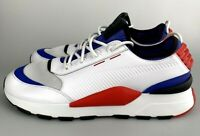 Puma RS-0 Sound Shoes White 366890-01 Size 12 US Sneaker Blue Red New