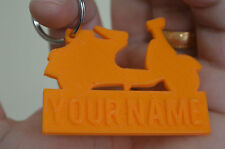 Lambretta Personalised Named Rubber 3D Vespa Keyring Motorbike Keychain Key fob