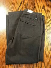 New listing Calvin Klein Casual Pants 38x32 Gray Slim Fit Flat Front Tapered Leg Mens New