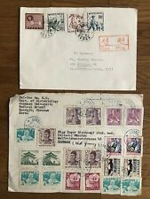 2 X KOREA COREE OLD COVER KWANGJU CHONNAM TO GERMANY 1968 !!