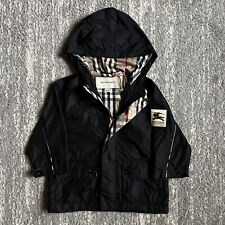 Burberry Toddler Rain Black Rain Jacket Size 18 Months