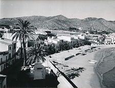 SITGES c. 1950 - Le Village La Petite Plage Catalogne Espagne - Div 5309