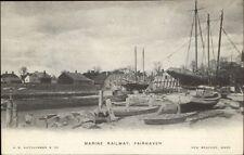 Fairhaven MA Marine Railway c1905 Postcard