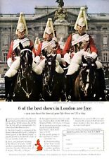1965 British Travel PRINT AD Horse Mounted Riders for Queens Guard London on $15