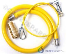 """COMMERCIAL KITCHEN GAS PIPE 1"""" BSP YELLOW HOSE 1 METRE LONG"""