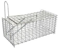 PIEGE NASSE A RAT 300 MM CAGE  GRILLAGE GALVANISE action par ressort