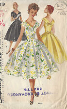 "1955 Vintage Sewing Pattern DRESS B30"" (162)"