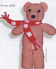Crochet Pattern ~ CHARMING TEDDY BEAR With SCARF Stuffed Animal ~ Instructions