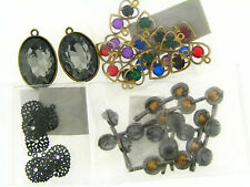 Mixed Lot Vintage Assorted Style Crystal & Rhinestone Drop Charms Bead Findings