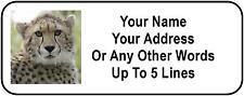 30 Cheetah Personalized Address Labels