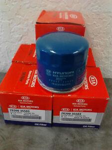 KIA SOUL OPTIMA SORRENTO factory OIL FILTER 6 -PACK PART# 26300-35503