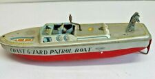 Plaything Wind UP Tin Litho Coast Guard Patrol Boat Made in Japan