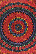 3D TAPESTRY-BLOOMING BUTTERFLY MANDALA-Psychedelic-FREE GLASSES 60X90