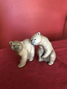 lladro porcelain bears