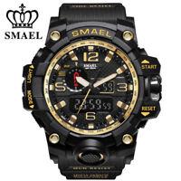 SMAEL Men's Sport Watch Dual Display Analog Digital LED Electronic Wrist Watches