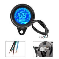 12V Universal Motorcycle LCD Digital Tachometer Odometer Speedometer Meter Gauge