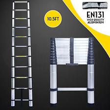 10.5 FT Aluminium Multi-Purpose Telescopic Ladder Extension Foldable Steps EN131