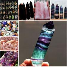 Natürlich Purple Pink Amethyst Point Quartz Healing Crystal Wand Turmalin Gift