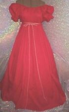 Ruby Red Chemise Renaissance or Civil War Southern Belle Costume Gown