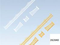 NEW ! Z scale Faller GARDEN FENCE KIT ( Brown & White ) # 282840