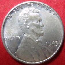"*UNCIRCULATED  1943-P ""STEEL"" LINCOLN WHEAT WAR CENT, Philadelphia Mint #13"