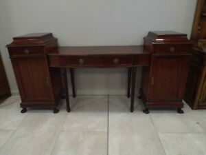 Superb Antique Maple & Co Mahogany Pedestal Sideboard Great Quality