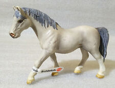 RARE Schleich Pvc ✱ GRAY STALLION HORSE ✱ Brown & Tan 2005 Retired