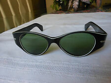 """Rare Christan Black Vintage Women's Sunglasses 5 3/4"""" - Made in Italy"""