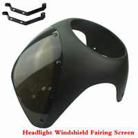 7Inch Cafe Racer Handlebar Headlight Windshield Fairing Screen