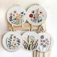 Embroidery Cross Stitch Kits Floral Pattern Beginners Needlework at Home