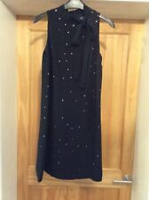 Ladies NEXT Black Lined Diamanté bow dress size 6 Brand New with tags