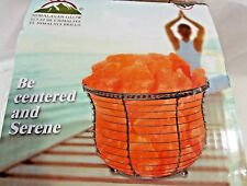 WBM Himalayan 6.75 in. Ionic Crystal Natural Salt 9-11 lbs Tall Wire Basket Lamp