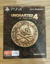 Uncharted 4 un ladrón's End ps4 Edición Especial Steelbook Caja y libro de arte