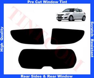 Suzuki Swift 3D 2011-... Pre-Cut Window Tint 5%-50% Rear Window & Rear Sides