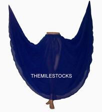 TMS N BLUE Chiffon Full Circle Skirt Belly Costume Tribal ROBE JUPE Dance EHS CS