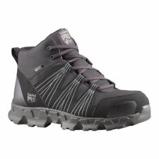 Timberland PRO Men's Powertrain Mid Alloy Safety Toe ESD Black Synthetic size 12