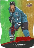 17/18 UPPER DECK MVP COLORS & CONTOURS LEVEL 1 GOLD #15 JOE THORNTON *36745