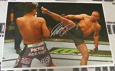 Georges St-Pierre Signed UFC 20x30 Canvas Photo PSA/DNA COA GSP 158 Autograph 1